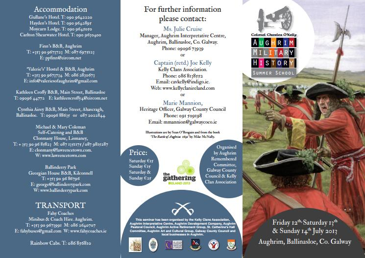 Aughrim Military History Summer School